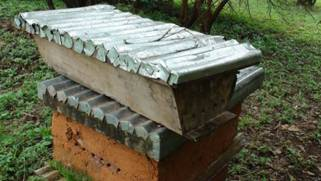 Beau Top Bar Hive In Use. Note Entrance Holes 8 10mm Wide
